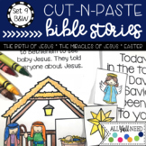 B&W Cut and Paste Bible Stories Set 9
