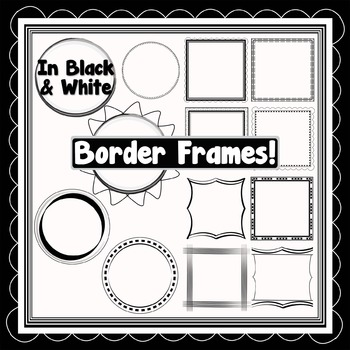 Black and White DIY Transparency Pattern Overlays and Borders -Pack #2