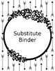 B&W Editable Arrow Binder Covers