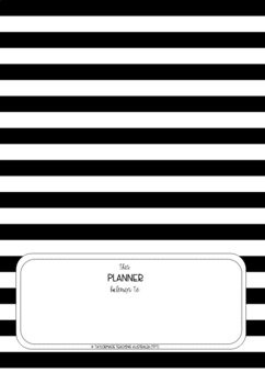 B&W Editable Planner Cover Pages