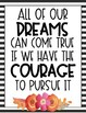 B&W Floral Watercolor Motivational Quotes