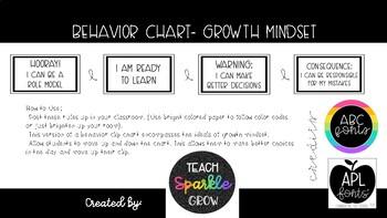 B&W Growth Mindset Behavior Chart