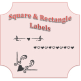 B/W LABELS for any classroom or office !