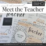 B+W NEUTRALS Meet The Teacher + Class Newsletter Pack