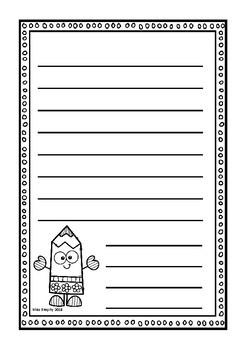 B&W Pencil Worksheets