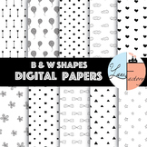 Black and White Digital Paper / Pattern