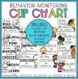 EDITABLE Positive Minded Clip Chart: Behavior Monitoring Visual (B+W & Color!)