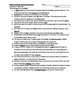 B'Way Episode One Notes