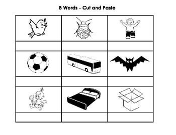 B Words - Cut & Paste Activity