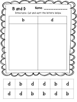 B and D Confusion Printables
