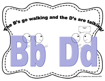 B and D Distinction Anchor Chart