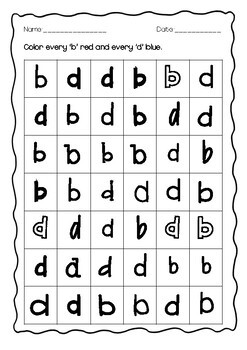 B and D Letter Reversals Pack