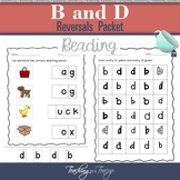 B and D Letter Reversals Packet
