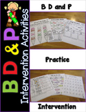 B and D Reversal Worksheets Orton Gillingham based (Dyslexia/RTI)
