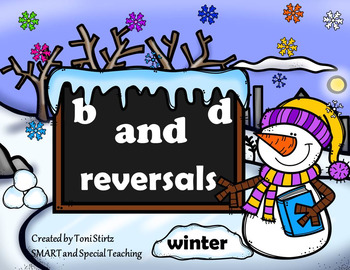 Winter B and D Reversals  Intervention Literacy Centers and Worksheets