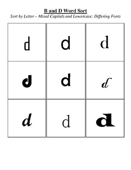 B and D Sort - Sort by Letter
