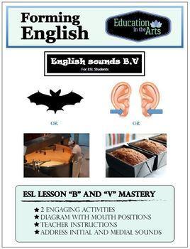 English Sounds B,V for ESL