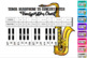 Bb to Concert Pitch Transposition Chart for Tenor Saxophone