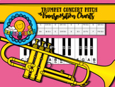 Bb to Concert Pitch Transposition Chart for Trumpet