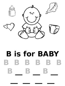 B is for Baby Writing Practice