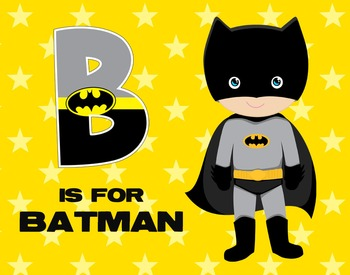 B is for Batman Poster