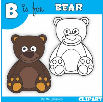 B is for Bear Clip Art