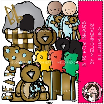 B is for Bears clip art - COMBO PACK- by Melonheadz