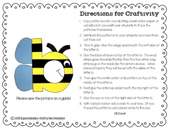 Lowercase B is for Bee Cut and Paste