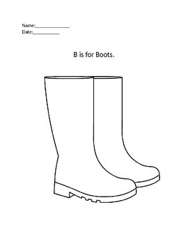 Letter B Activity Sheets