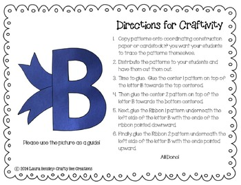 Letter B Craft {Bow}