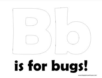 B is for Bugs Fingerprint Art