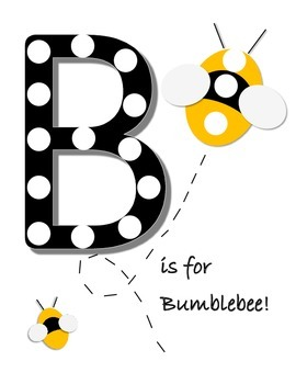 B is for Bumblebee pom pom mat