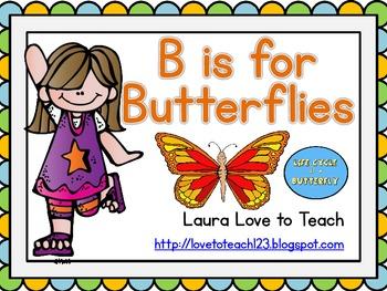 B is for Butterflies: K-2 Mini Unit