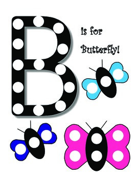 B is for Butterfly pom pom mat