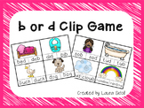 B or D Letter Reversals Clip Game