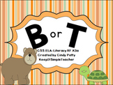 B or T Beginning Consonant Sound Sort ELA-RF.K3.a