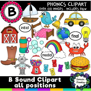 B sound clipart - 100 images! Articulation Clipart Phonetic Clipart