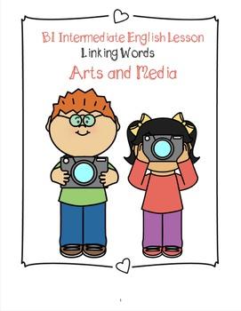 B1 Intermediate ESL/ EFL Lesson Plan - Linking Words - Art