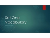 B1 Vocabulary Set One Words and Sentences