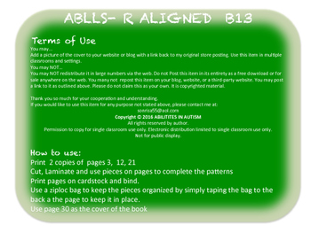 B13 ABLLS-R ALIGNED sequence pattern to match model