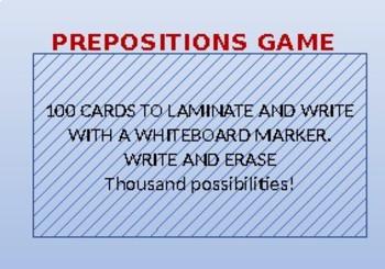 B2 PREPOSITIONS GAME