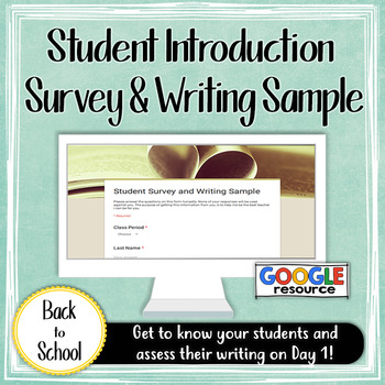 Student Introduction Survey and Writing Sample DIGITAL