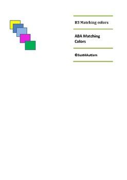 B3 Matching Colors ABA