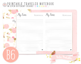 B6 Dated Notes Traveler Notebook Refill