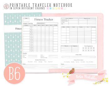 B6 Fitness Tracker Traveler Notebook Refill