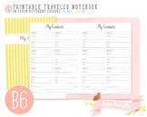 B6 My Contacts List Traveler Notebook Refill