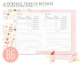 B6 My Recipe Traveler Notebook Refill