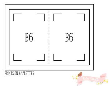 B6 Regular Monthly Organizer Traveler Notebook Refill