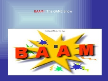 BAAM: Power Point Game - Review Vocab on Objects in the House (French)