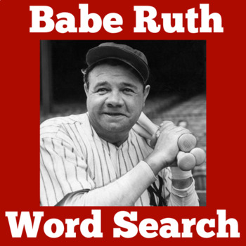 BABE RUTH ACTIVITY ( WORD SEARCH)